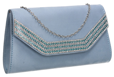 Beautiful Summer Winter Clutch Bag perfect for a party!Harper Clutch Bag Serenity Blue SWANKYSWANS