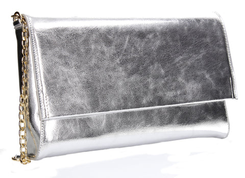 SWANKYSWANS Jenna Clutch Bag Silver Cute Cheap Clutch Bag For Weddings School and Work