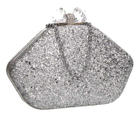 SWANKYSWANS Mariah Clutch Bag Silver Cute Cheap Clutch Bag For Weddings School and Work