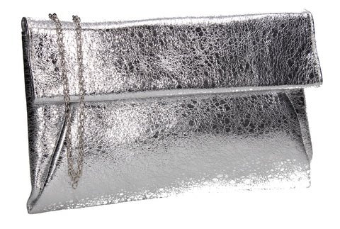 SWANKYSWANS Tracy Slim Clutch Bag Silver