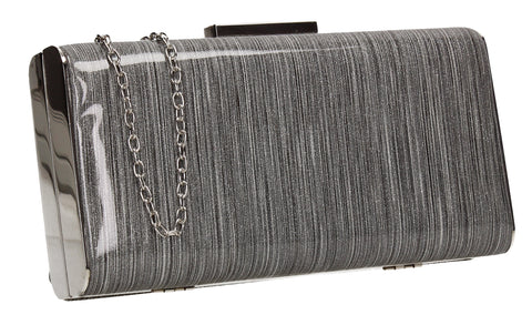 SWANKYSWANS Melissa Clutch Bag Silver Cute Cheap Clutch Bag For Weddings School and Work