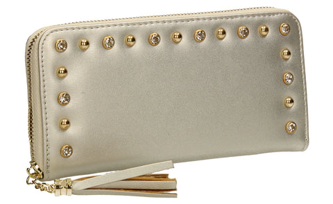 SWANKYSWANS James Plain Wallet Silver