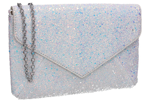 SWANKYSWANS Zuri Clutch Bag Silver Cute Cheap Clutch Bag For Weddings School and Work