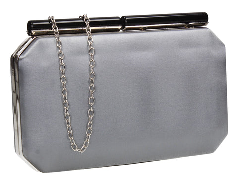 SWANKYSWANS Millie Clutch Bag Silver Cute Cheap Clutch Bag For Weddings School and Work