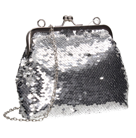 SWANKYSWANS Britney  Clutch Bag Silver Cute Cheap Clutch Bag For Weddings School and Work