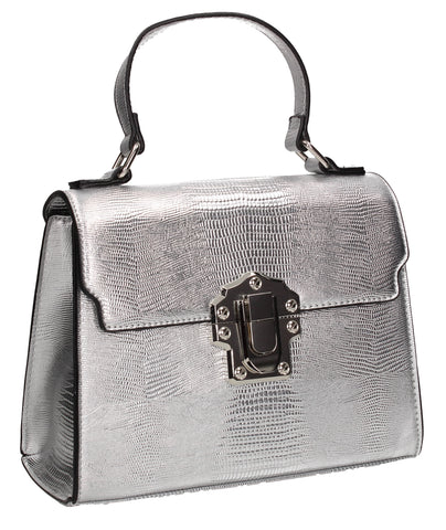 Swanky Swans Charlotte Handbag SilverPerfect for School, Weddings, Day out!