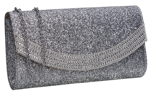 SWANKYSWANS Dakota Clutch Bag Silver Cute Cheap Clutch Bag For Weddings School and Work