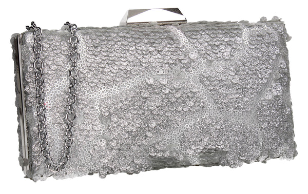 SWANKYSWANS Maggie Clutch Bag Silver Cute Cheap Clutch Bag For Weddings School and Work