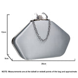 SWANKYSWANS Karie Clutch Bag Silver Cute Cheap Clutch Bag For Weddings School and Work