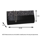 SWANKYSWANS Kathy Glitter Clutch Bag Silver Cute Cheap Clutch Bag For Weddings School and Work