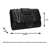 SWANKYSWANS Nora Fancy Clutch Bag Black Cute Cheap Clutch Bag For Weddings School and Work