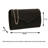 SWANKYSWANS Andrea Clutch Bag Black Cute Cheap Clutch Bag For Weddings School and Work