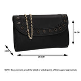 SWANKYSWANS Tiare Onyx Style Clutch Bag Black Cute Cheap Clutch Bag For Weddings School and Work