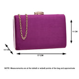 SWANKYSWANS Surrey Clutch Bag Purple Cute Cheap Clutch Bag For Weddings School and Work