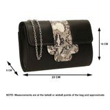 SWANKYSWANS Zafira Clutch Bag Navy Blue Cute Cheap Clutch Bag For Weddings School and Work