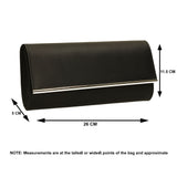 SWANKYSWANS Samantha Clutch Bag Black Cute Cheap Clutch Bag For Weddings School and Work