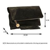 SWANKYSWANS Lena Clutch Bag Black Cute Cheap Clutch Bag For Weddings School and Work