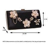 SWANKYSWANS Payton Floral Detail Clutch Bag Champagne Cute Cheap Clutch Bag For Weddings School and Work