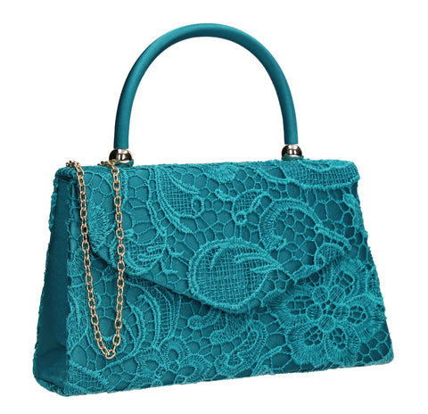 Kendall Lace Clutch Bag Spruce