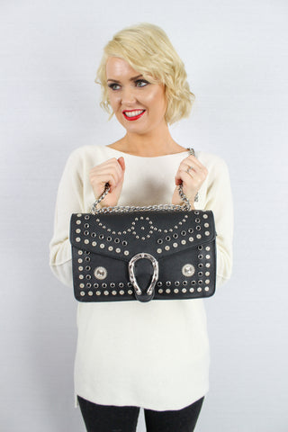 Parker Cross Body Clutch Bag Black