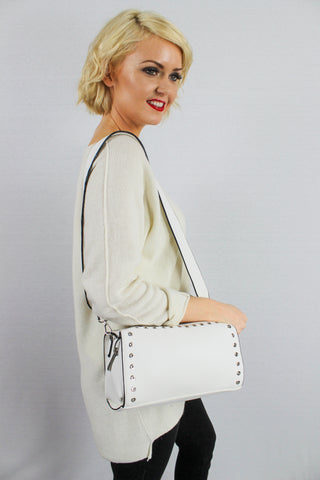 Anna Cross Body Handbag White