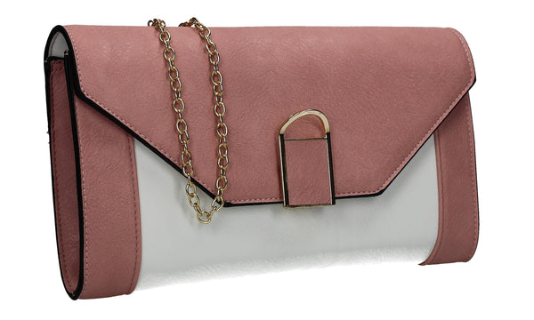 SWANKYSWANS Sydney Clutch Bag Pink Cute Cheap Clutch Bag For Weddings School and Work