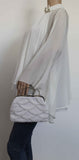 SWANKYSWANS Hailee Faux Pearl Detail Clutch Bag White Cute Cheap Clutch Bag For Weddings School and Work