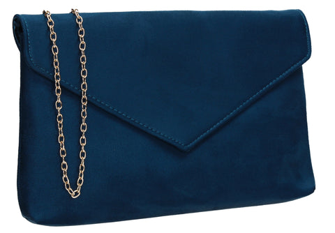 SWANKYSWANS Rosa Clutch Bag Teal Cute Cheap Clutch Bag For Weddings School and Work
