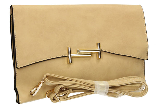 SWANKYSWANS Tony Clutch Bag Beige Cute Cheap Clutch Bag For Weddings School and Work