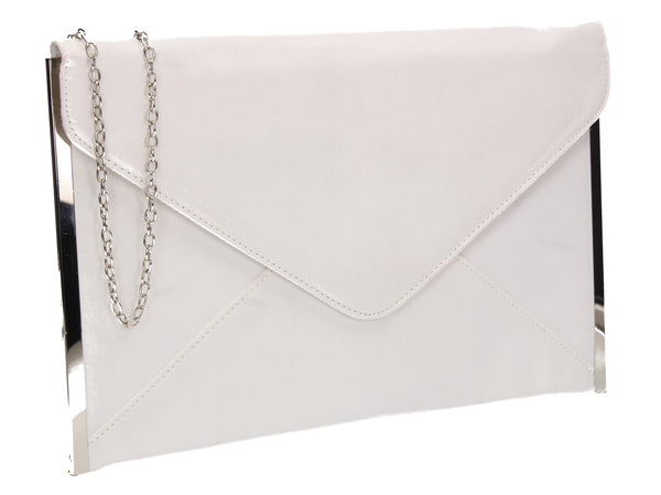 Louis Slim Clutch Bag White