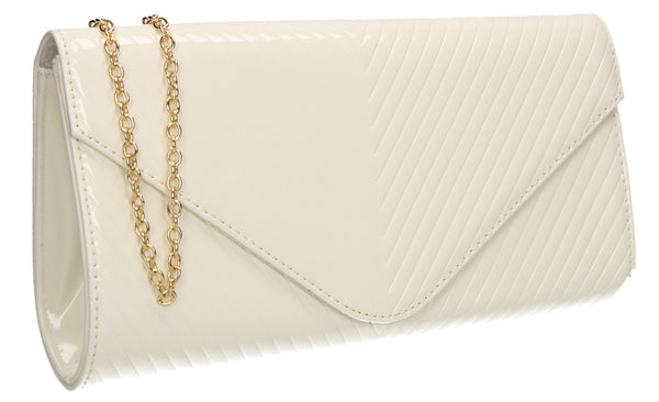 SWANKYSWANS Vanesa Clutch Bag White Cute Cheap Clutch Bag For Weddings School and Work