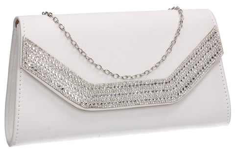 Beautiful Summer Winter Clutch Bag perfect for a party!Harper Clutch Bag White SWANKYSWANS
