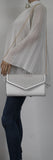 SWANKYSWANS Andrea Clutch Bag White Cute Cheap Clutch Bag For Weddings School and Work