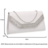 SWANKYSWANS Harper Clutch Bag White Cute Cheap Clutch Bag For Weddings School and Work