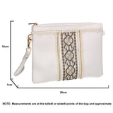 SWANKYSWANS Delilah Clutch Bag White Cute Cheap Clutch Bag For Weddings School and Work