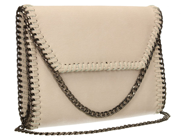 SWANKYSWANS Winona Clutch Bag Light Beige Cute Cheap Clutch Bag For Weddings School and Work