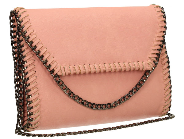 SWANKYSWANS Winona Clutch Bag Rose Quartz Cute Cheap Clutch Bag For Weddings School and Work