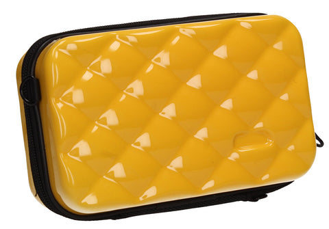 Natalia Acrylic Shell Compact Box Crossbody Bag Yellow