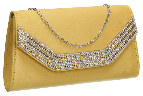 Beautiful Summer Winter Clutch Bag perfect for a party!Harper Clutch Bag Yellow SWANKYSWANS