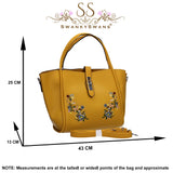 Rosie Summer Tote Handbag Primrose YellowBeautiful Cute Animal Faux Leather Clutch Bag Handles Strap Summer School
