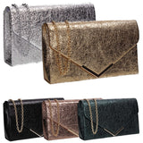 Swanky Swans Averie Clutch Bag Silver Womens Ladies Clutch Bag Cute
