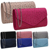SWANKYSWANS Cadence Clutch Bag Fuchsia Cute Cheap Clutch Bag For Weddings School and Work