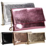SWANKYSWANS Jenna Clutch Bag Gold Cute Cheap Clutch Bag For Weddings School and Work