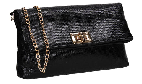 Tess Glamour Party Clutch Bag Black