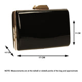 SWANKYSWANS Arizona Metallic Clutch Bag Black Cute Cheap Clutch Bag For Weddings School and Work