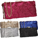 SWANKYSWANS Maggie Clutch Bag Gold Cute Cheap Clutch Bag For Weddings School and Work