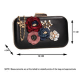 SWANKYSWANS Eliza Floral Clutch Bag White Cute Cheap Clutch Bag For Weddings School and Work