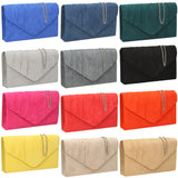 SWANKYSWANS Iggy Faux Suede Clutch Bag Spruce Cute Cheap Clutch Bag For Weddings School and Work