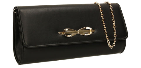 SWANKYSWANS Abigail Clutch Bag Black Cute Cheap Clutch Bag For Weddings School and Work