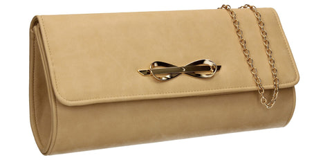 SWANKYSWANS Abigail Clutch Bag Beige Cute Cheap Clutch Bag For Weddings School and Work